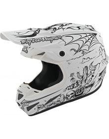 Troy Lee Designs SE4 Composite Helmet LTD Stranded Matte White