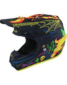 Troy Lee Designs SE4 Composite Helmet LTD Stranded Matte Navy