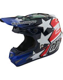 Troy Lee Designs SE4 Carbon Helmet LTD Liberty Red/White/Blue