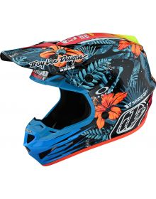 Troy Lee Designs SE4 Composite Helmet Cosmic Jungle Blue