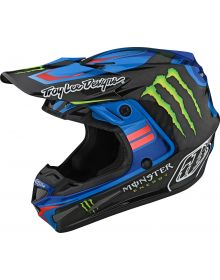 Troy Lee Designs SE4 Carbon Helmet Flash Monster Blue