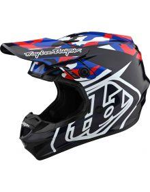 Troy Lee Designs GP Helmet Overload Camo Navy/Red