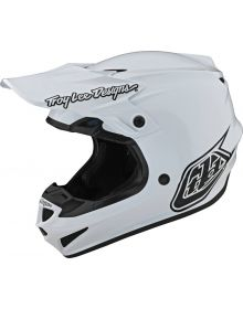 Troy Lee Designs SE4 Polyacrylite Helmet Mono White