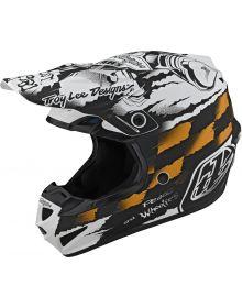 Troy Lee Designs SE4 Polyacrylite Helmet Strike White/Black