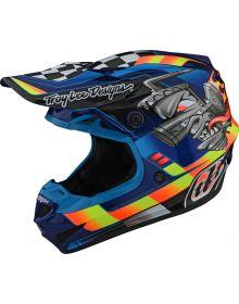 Troy Lee Designs SE4 Polyacrylite Helmet Carb Blue
