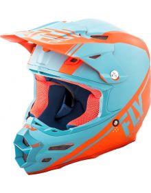 Fly Racing 2018 F2 Carbon Rewire Helmet Matte Light Blue/Orange