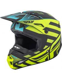 Fly Racing 2018 Elite Cold Weather Helmet Matte Blue/Hi-Vis/Black
