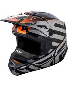 Fly Racing 2018 Elite Cold Weather Helmet Orange/Grey/Black
