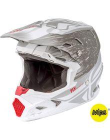 Fly Racing 2018 Toxin Mips Resin Helmet Matte White/Grey