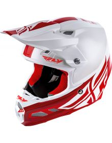 Fly Racing 2019 F2 Shield Carbon Mips Helmet White/Red