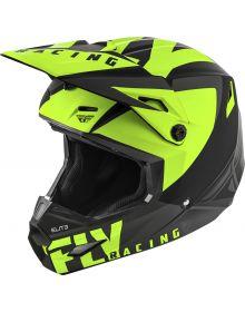 Fly Racing 2019 Elite Vigilant Helmet Matte Black/Hi-Vis Yellow