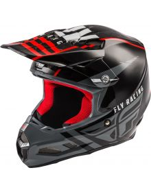Fly Racing 2020 F2 MIPS Helmet Granite Red/Black/White