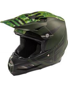 Fly Racing 2020 F2 MIPS Helmet Granite Dark Green/Black