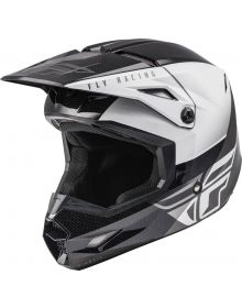 Fly Racing 2021 Kinetic Helmet Straight Edge Black/White