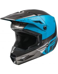 Fly Racing 2021 Kinetic Helmet Straight Edge Blue/Grey/Black