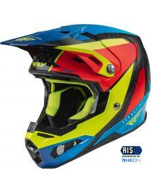 Fly Racing 2022 Formula Carbon Helmet Prime Hi-Vis/Blue/Red