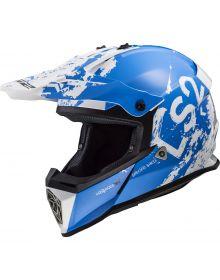 LS2 Helmets Fast V2 Mini Youth Helmet Spot Blue/White