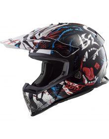 LS2 Helmets Fast V2 Mini Youth Helmet Beast White