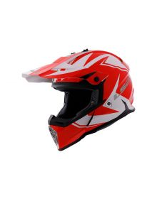 LS2 Helmets Fast V2 Two Face Youth Helmet White/Red