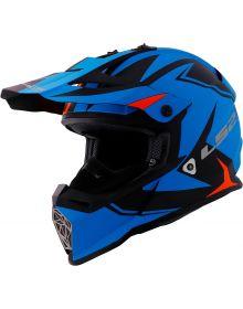 LS2 Helmets Fast V2 Two Face Youth Helmet Matte Blue/Orange