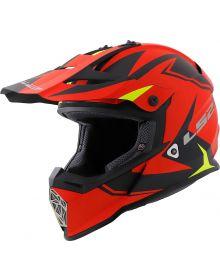LS2 Helmets Fast V2 Two Face Youth Helmet Matte Red/Hi-Vis