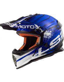 LS2 Helmets Fast V2 Mini Helmet Gator Gloss Blue
