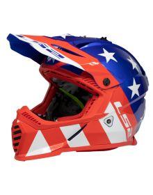 LS2 Gate Youth Helmet Stripes Red/White/Blue