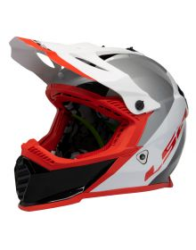 LS2 Gate Launch Youth Helmet White/Red/Black