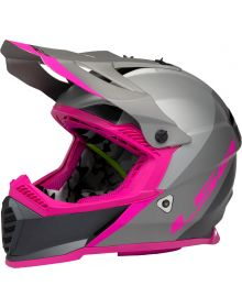 LS2 Gate Launch Youth Helmet Silver/Gray/Pink