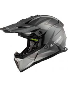 LS2 Gate Two Face Youth Helmet Matte Gray/Black