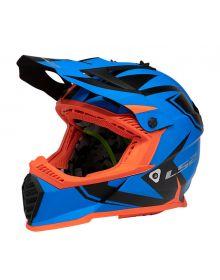LS2 Gate Two Face Helmet Matte Blue/Orange