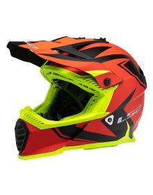 LS2 Gate Two Face Helmet Matte Red/Hi Vis