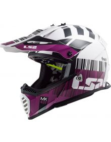 LS2 Gate Youth Helmet Xcode Gloss White Violet