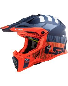 LS2 Gate Youth Helmet Xcode Matte Flou Orange Blue