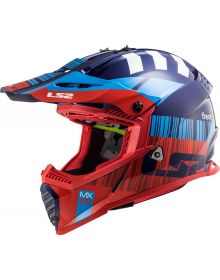 LS2 Gate Youth Helmet Xcode Gloss Red Blue