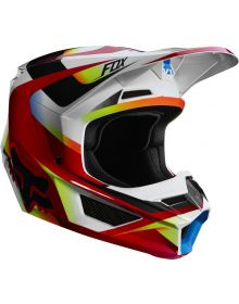 Fox Racing 2019 V1 Youth Helmet Motif Red/White