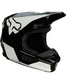 Fox Racing V1 Revn Youth Helmet Black/White