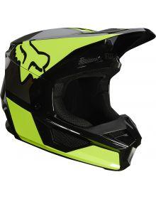 Fox Racing V1 Revn Youth Helmet Flo Yellow