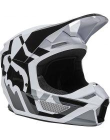 Fox Racing V1 Lux Youth Helmet Black/White