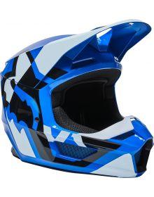 Fox Racing V1 Lux Youth Helmet Blue
