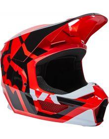 Fox Racing V1 Lux Youth Helmet Flo Red