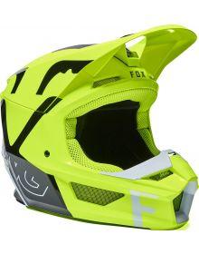 Fox Racing V1 Lux Youth Helmet Flo Yellow