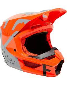 Fox Racing V1 Skew Youth Helmet Steel Grey