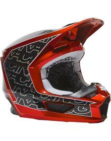 Fox Racing V1 Peril Youth Helmet Flo Red
