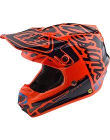 Troy Lee Designs SE4 Factory Youth Helmet Orange
