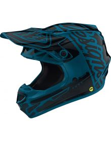 Troy Lee Designs SE4 Polyacrylite Youth Helmet Factory Ocean