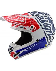 Troy Lee Designs SE4 Polyacrylite Youth Helmet Factory White/Blue