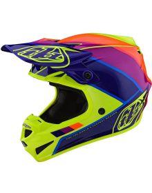 Troy Lee Designs SE4 Polyacrylite Youth Helmet Beta Yellow/Purple
