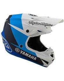 Troy Lee Designs SE4 Polyacrylite Yamaha Youth Helmet White/Blue