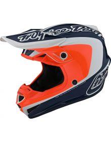 Troy Lee Designs SE4 Polyacrylite Youth Helmet Corsa Navy/Orange
